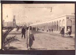 CPSM. Maroc. Casablanca.  Le Boulevard Du 4ème  Zouaves. Tour De L'Horloge. Circulé. Timbre. Cachets 1928. Etat Moyen. - Casablanca