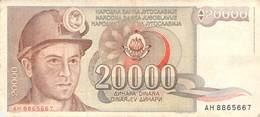 20000 Dinar Banknote Jugoslawien 1987 VF/F (III) - Jugoslawien