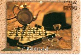 échec Chess Schach Lunette Carte Prépayée Japon Card  (G 179) - Games