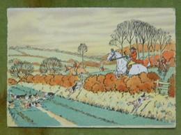 2 Cartes Postales Chasse à Courre - Illustrées Par Harry Eliott - Elliot