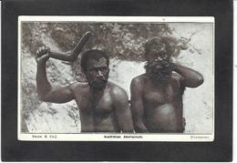 CPA Australie Australia Aborigène écrite Boomerang - Aborigènes
