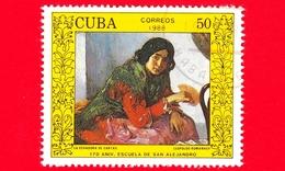CUBA - 1988 - 170 Accademia Belle Arti Di San Alejandro - La Echadora De Cartas, Dipinto Di Leopoldo Romanach - 50 - Cuba