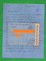 POW Prisoners Of War Prigionieri Di Guerra Prisonniers De Guerre From INDIA BANGALORE To Vicenza 1941 Busta + Lettera - Documents