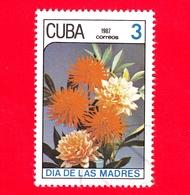CUBA - 1987 - Festa Della Mamma - Fiori - Dalie - 3 - Cuba
