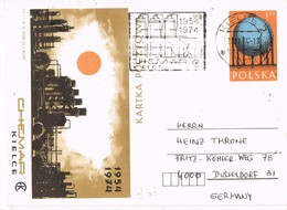 32981. Entero Postal KIELCE (Polska) Polonia 1974. . Theme Quimica, Chemie, Chemistry - Enteros Postales