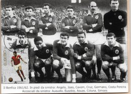 CARTE MAXIMUM - MAXICARD - MAXIMUM CARD - PORTUGAL - SPORT LISBOA ET BENFICA - EUSÉBIO - CHAMPION D'EUROPE 1961/1962 - Calcio