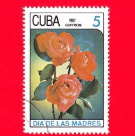 CUBA - 1987 - Festa Della Mamma - Fiori - Rose - 5 - Cuba