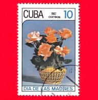 CUBA - 1987 - Festa Della Mamma - Fiori - Rose - 10 - Cuba