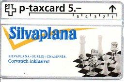 échec Chess Schach   Télécarte Suisse P-taxcard 5 Phonecard  Telefoncarten (G 181) - Jeux