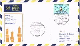 32983. Carta First Fligth ANKARA (Turquia) 1971 To Teheran. Lufthansa LH-600 - 1921-... República