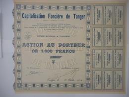 Capitalisation Fonciere De TANGER  1930         MAROC  JAMAIS VU EXEMPLAIRE RARE à SAISIR - Afrique
