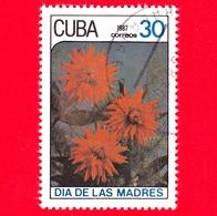 CUBA - 1987 - Festa Della Mamma - Fiori - Dalie - 30 - Cuba