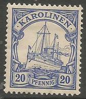 German Caroline Islands - 1900 Kaiser's Yacht 20pf  MH *    Sc 10 - Colony: Caroline Islands