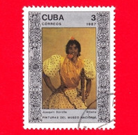 CUBA - 1987 - Zingara, Dipinto Di Joaquin Sorolla Nel Museo Nazionale Di Belle Arti, L'Avana - 3 - Cuba