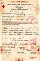 Croix Rouge Française.Telegr.Beyrouth à Toulouse 43-44.Tampons.Cachets.CR Des Etats Du Levant.Turquie. Censures - Marcophilie (Lettres)