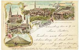 Groet Uit ALSEMBERG - Beersel - Litho Kaart - Gekleurd - Verzonden 1901 - Beersel