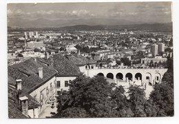 1964 YUGOSLAVIA, SLOVENIA, LJUBLJANA, PANORAMA, FLAM WITH A BEE, INVEST IN POST OFFICE BANK,ILLUSTRATED POSTCARD USED - Yugoslavia