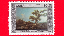 CUBA - 1987 - Paesaggio Con Persone, Dipinto Di Francesco Zuccarelli Nel Museo Nazionale Di Belle Arti, L'Avana - 30 - Cuba