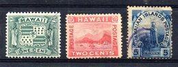 APR891 - HAWAII 1899 , Serie Yvert N. 69/71  Usato (2380A) - Hawaii