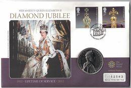 British 5 Pounds Coin Cover – 2012(Diamond Jubilee) - Grande-Bretagne