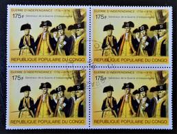 INDEPENDANCE DES ETAS-UNIS - GENERAUX 1976 - 1 BL X 4 OBLITERE - YT 435 - MI 737 - Oblitérés