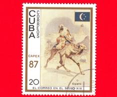 CUBA - 1987 - Capex '87 - La Posta Del 19° Secolo - Egitto - Cammello - Bandiera - Servizi Postali - 20 - Cuba