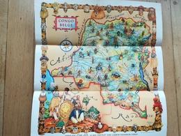 Carte Congo Belge Ethnographique En Français Vieux Papiers Colonie Belgique - Cartes