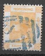 1865 8 Cents Queen Victoria, CC Watermark, SI Shanghai Treaty Port Cancel - Hong Kong (...-1997)
