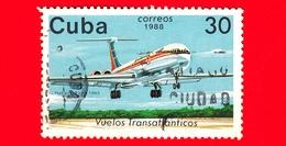 CUBA - 1988 - Aereo - Aviazione - Compagnie Aeree - Il-62 (Parigi, 1983) - 30 - Cuba