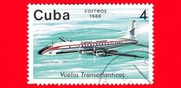 CUBA - 1988 - Aereo - Aviazione - Compagnie Aeree - Douglas DC-7 (Praga, 1961) - 4 - Cuba