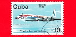 CUBA - 1988 - Aereo - Aviazione - Compagnie Aeree - Douglas DC-7 (Luanda, 1975) - 10 - Cuba