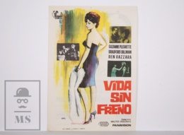 Original 1965 A Rage To Live Cinema / Movie Advt Leaflet - Suzanne Pleshette, Bradford Dillman, Ben Gazzara - Cinema Advertisement