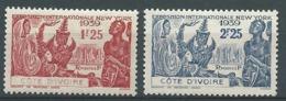 Cote D'ivoire  -  Yvert N°144 / 145 **   - Bce 20503 - Côte-d'Ivoire (1892-1944)