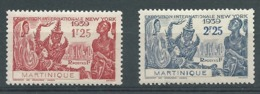 Martinique   - Yvert N° 168 /  169 **  -   Bce 20511 - Martinique (1886-1947)