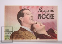 Original 1940 Remember The Night Cinema / Movie Advt Leaflet - Barbara Stanwyck, Fred MacMurray, Beulah Bondi - Bioscoopreclame