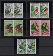 Dahomey (1966/67) Yv. Av. 37/41 -  Pairs !! - NON DENTELE - IMPERFORATED /  Aves - Birds - Oiseaux - Vogel - Otros