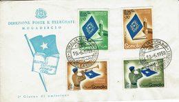 SOMALIA- MOGADISCIO-ASSEMBLEA CONSTITUENTE-1e GIORNO DI EMISSIONE 19/06/1959 - Somalie (1960-...)