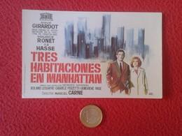 SPAIN PROGRAMA DE CINE FOLLETO MANO CINEMA PROGRAM PROGRAMME FILM PELÍCULA TRES HABITACIONES EN MANHATTAN ANNIE GIRARDOT - Publicidad