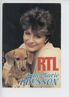 Anne Marie Peysson RTL (et Son Chien Teckel) Mano Photographe - Femmes Célèbres