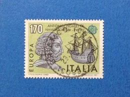 1980 ITALIA FRANCOBOLLO USATO STAMP USED EUROPA CEPT 170 - 6. 1946-.. Republic