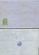 J) 1858 MEXICO, 2 REALES SANTA INES, PUEBLA DISTRICT, COMPLETE LETTER, INTERNAL USAGE, CIRCULATED COVER, FROM MEXICO TO - Mexico