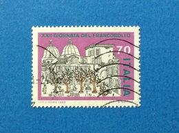 1980 ITALIA FRANCOBOLLO USATO STAMP USED 70 GIORNATA DEL FRANCOBOLLO - - 6. 1946-.. Repubblica
