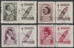 ~~~ Poland Pologne 1948 - Anti Tuberculosis - Mi. 511/514 ZF VII (o)  ~~~ - Oblitérés