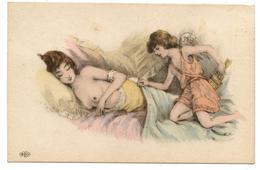 Jolie Jeune Fille Nue.art Nouveau.cupidon.érotique.érotic.érotisme.nude.              .E.34 - Illustrateurs & Photographes