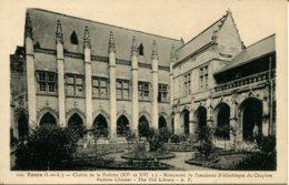 CPA - TOURS - CLOITRE DE LA PSALETTE - ANCIENNE BIBLIOTHEQUE DU CHAPITRE - Tours