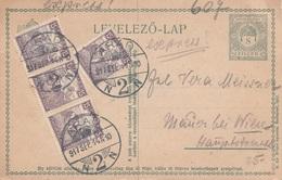 UNGARN EXPRESS 1917 - 8 Filler Ganzsache + 4 X 15 F Auf Pk Gel.von Arad N. Wien - Ganzsachen