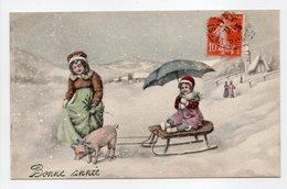 - CPA VIENNE (Illustrateurs) - Bonne Année 1913 - N° 5357 - - Vienne