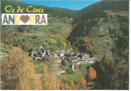 OS DE CIVIS, The Spanish Village That Can Be Reached By Vehicle Only By Going Through Andorra With And.Spanish Stamps - Andorra