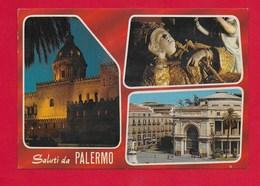 CARTOLINA NV ITALIA - Saluti Da PALERMO - Vedutine Multivue - 10 X 15 - Saluti Da.../ Gruss Aus...
