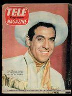 Télé Programme Magazine N°156 Luis Mariano Invitera Les Téléspectateurs Chez Lui De 1958 - Fernsehen